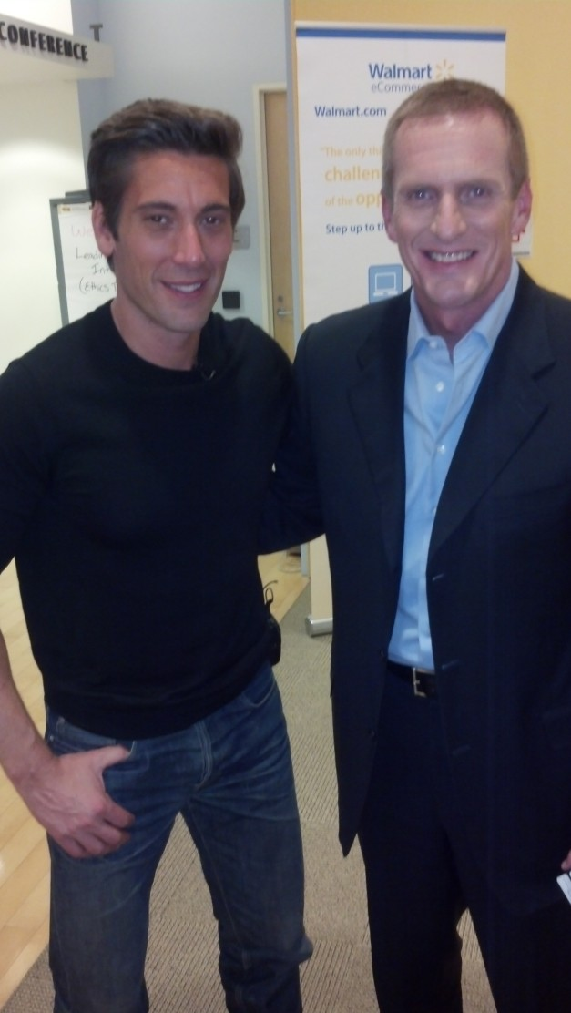 ABC's David Muir and Lynx Telematics Vincent Rush